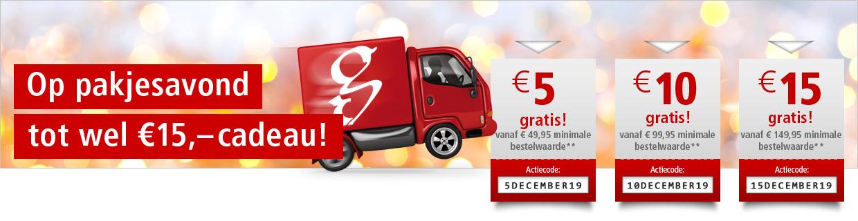 Op pakjesavond  – tot wel €15,- cadeau!