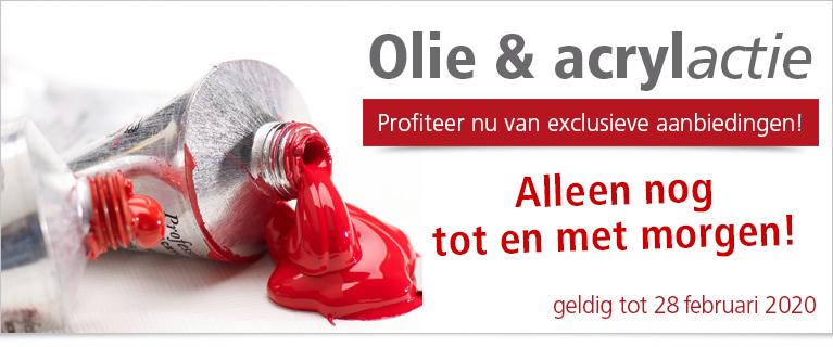 Alleen nog tot en met morgen! Olie- & acrylactie online – profiteer van exclusieve aanbiedingen!