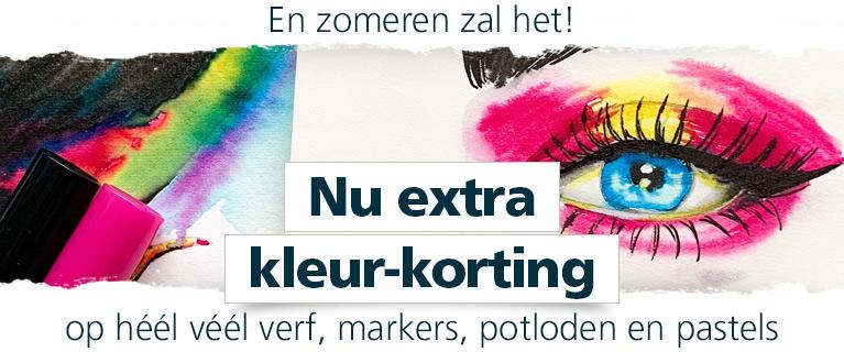 En zomeren zal het! Nu extra kleur-korting op héél véél verf, markers, potloden en pastels