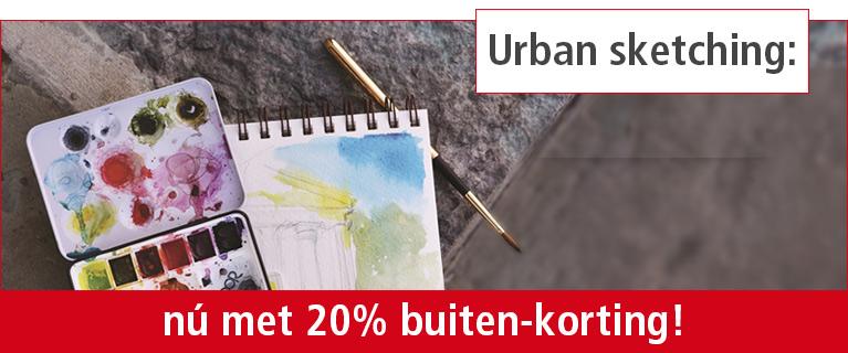 Urban sketching: nú met 20% buiten-korting!