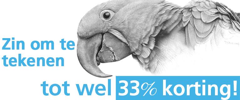 Zin om te tekenen tot wel 33% korting!
