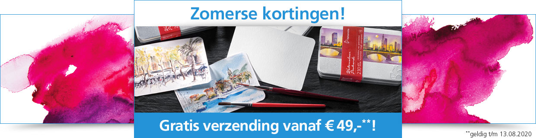 Nú zomerse kortingen + gratis verzending vanaf € 49,-**!
